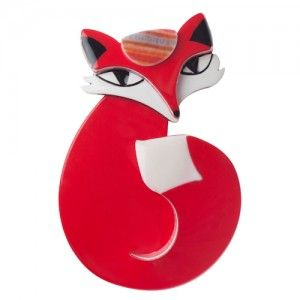 Valerie Vixon (Red Resin  Brooch)