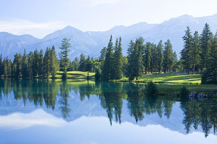 Hole # 14, Jasper Park Lodge golf course. photo by Aiden Bradley