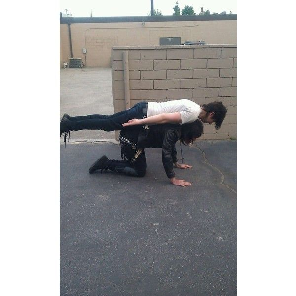 Ronnie radke…wait is he on top of…andy biersack... yes he is... and planking at the same time... holy shiz