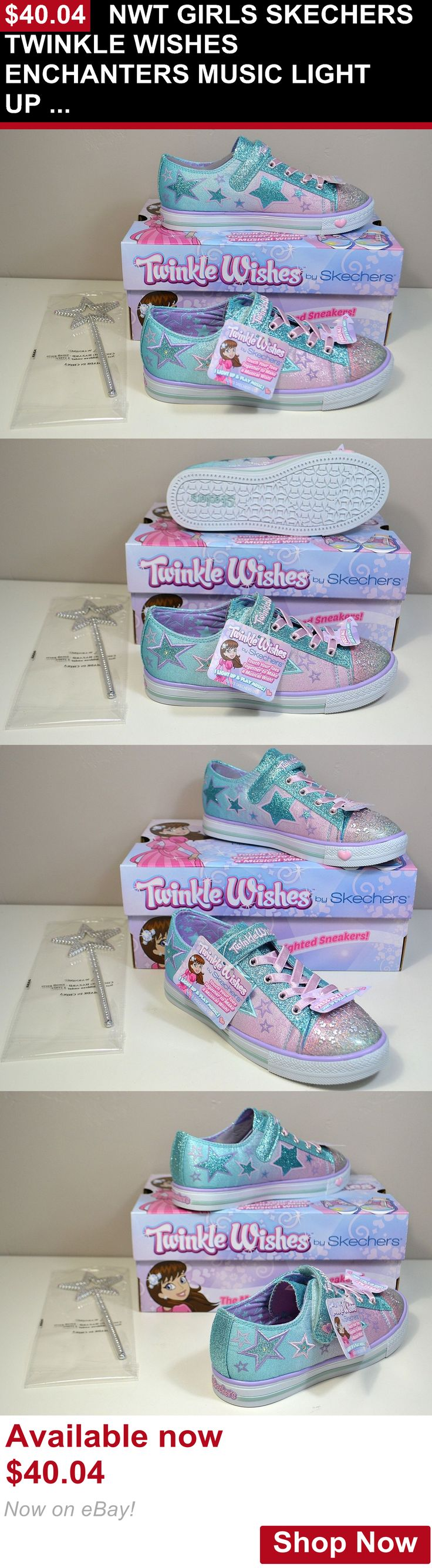 Children girls clothing shoes and accessories: Nwt Girls Skechers Twinkle Wishes Enchanters Music Light Up Shoes Sz 11C-3Y BUY IT NOW ONLY: $40.04