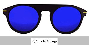 Road Racer Aviators Sunglasses - 562 Black/Blue
