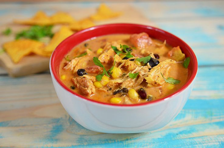 Our Slow Cooker Chicken Enchilada Stew is packed with protein and big on flavor, not to mention super easy and filling!