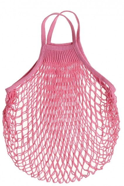 Go grocery shopping in style! (comes in handy for other shopping as well :)). Rose Cotton Netted Shopping Bag by Calypsostbarth.com