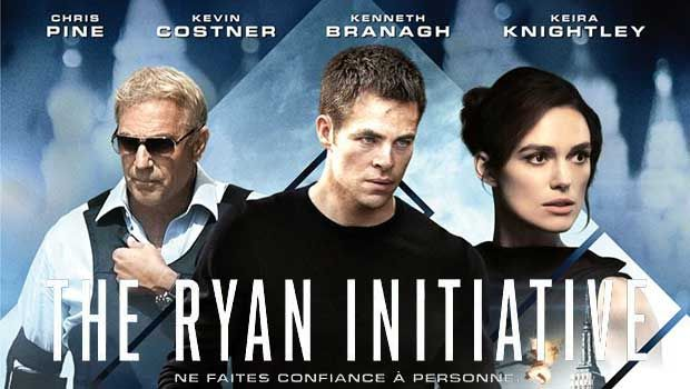 The Ryan Initiative avec Chris Pine, Keira Knightley, Kevin Costner, Kenneth Branagh, film d'action, thriller. Ryan st un brillant analyste financier.