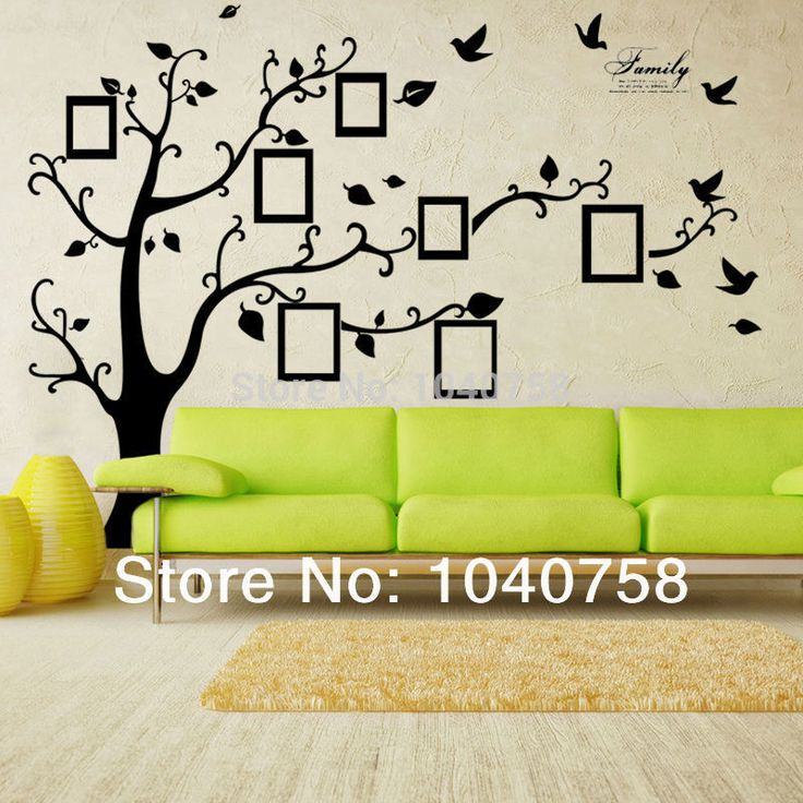 X Large Room Photo Frame Decoration Family Tree Wall Sticker Poster On A Wall  Decals Tree Part 86