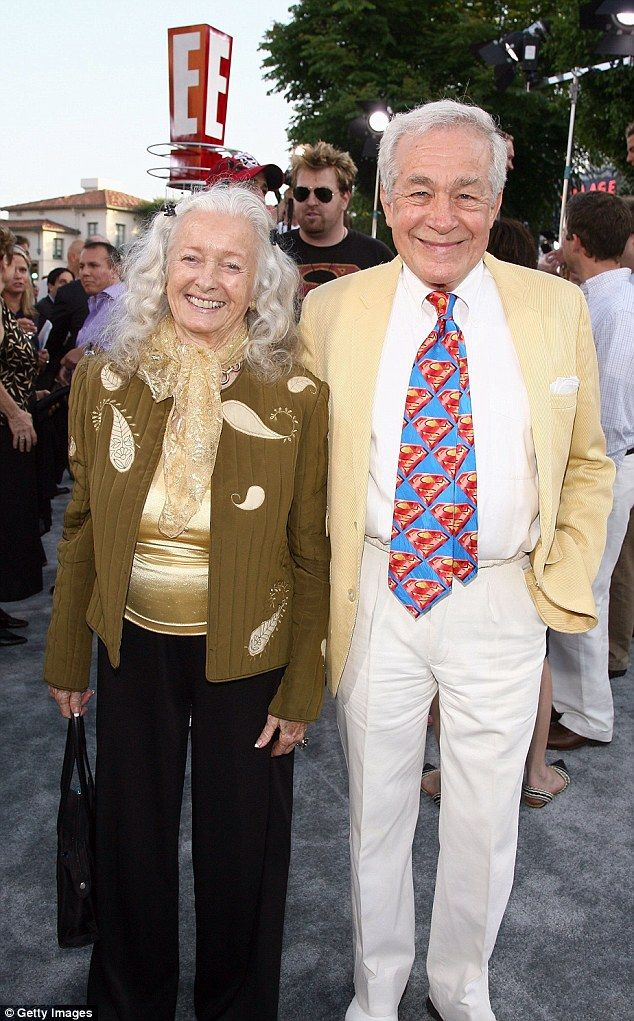 Jimmy and Lois: Neill and actor Jack Larson, who played the original Jimmy Olsen, at the W...