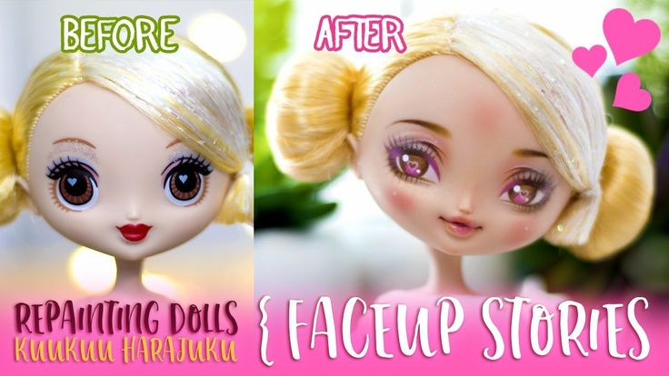 Repainting Dolls - face up tutorial