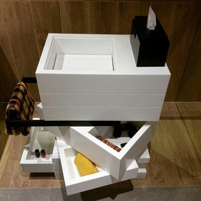 MyBath Levels washbasin www.mybath.pl #mybath #corian #bathroom #interiordesign