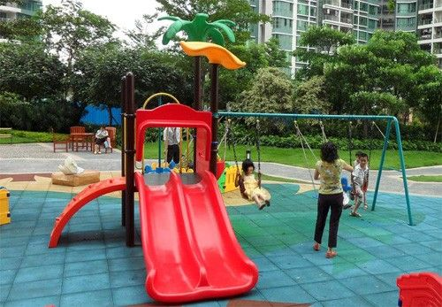 how to clean plastic playground equipment