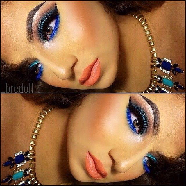 Exotic Makeup Look - Makeup by @_bredoll - Visit www.magnetlook.com/photos for more Fashion & Beauty Photos