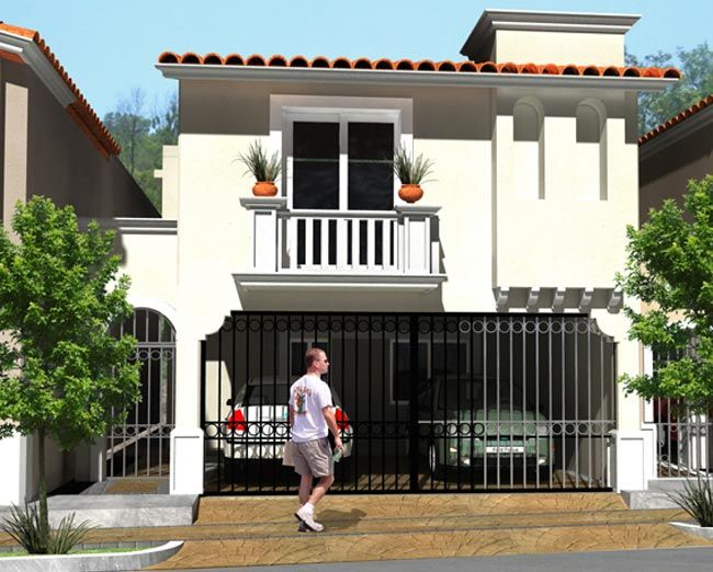 Fachada casa moderna con balcon 650 522 pixels for Fachadas de casas con terraza