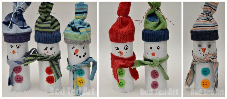 Snowman toilet paper roll