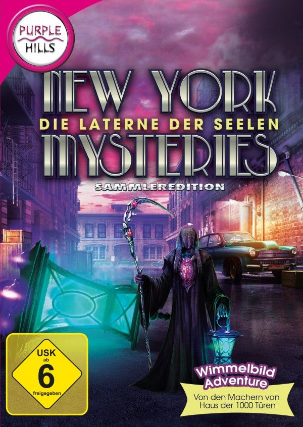 New York Mysteries - Laterne der Seelen. Schlüpfe mit diesem Wimmelbild-Abenteuer erneut in die Rolle der Reporterin Laura James und reise zurück in die 50er Jahre nach New York City. Du bist erst vor kurzem einem Orden beigetreten, der mysteriöse und unerklärliche Verbrechen aufklärt. Nun wurde eine reiche Rechtsanwalts-Witwe kurz nach der Beerdigung ihres Mannes brutal ermordet. Doch bei deinen Ermittlungen siehst du in ihrem Haus einen Mann, der aussieht wie ihr Ehemann. Kann das sein?