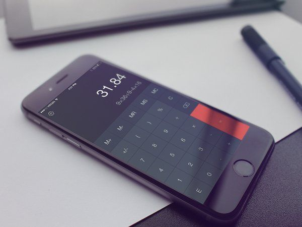UI calculator phone app