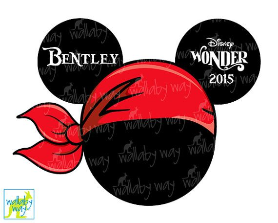 Disney Cruise Pirate Minnie Printable Iron On by TheWallabyWay