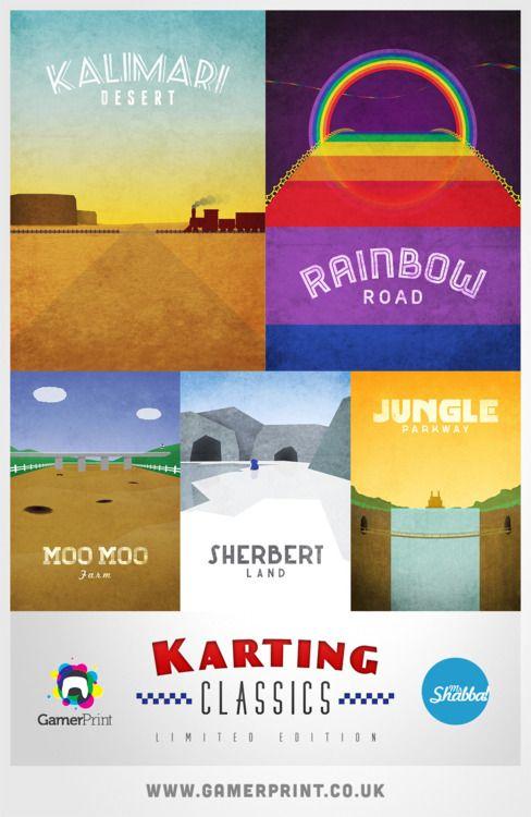 Mario Kart Travel Posters --->http://www.gamerprint.co.uk/collections/karting-classics
