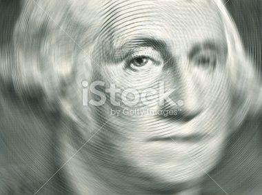 Washington with sensitive focus on a US dollar bill
