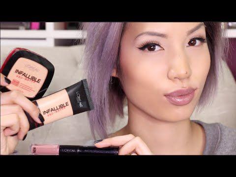 NEW LOREAL 24 HOUR PRODUCTS |  Pro Matte Foundation + Powder & Lipstick ...