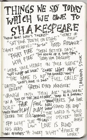 Things we say today thanks to Shakespeare