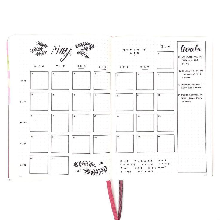Best Bullet Journal  Monthly Layout Images On