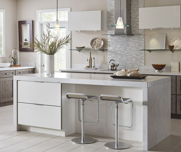 Gloss White Kitchen Cabinets: Ambra TrueColor High Gloss White And