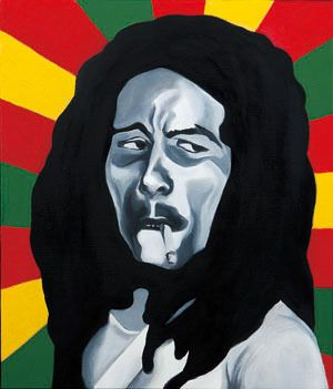 Sound#6, oil on canvas, 53.0×45.5, 2013, for Bob marley