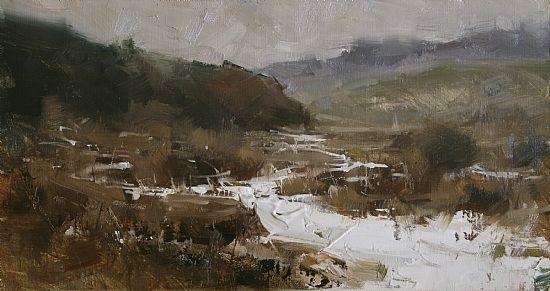 January by Tibor Nagy Oil Painting ~ 9 x 16