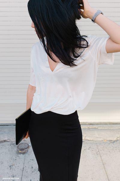 style highwaist blouse skirt