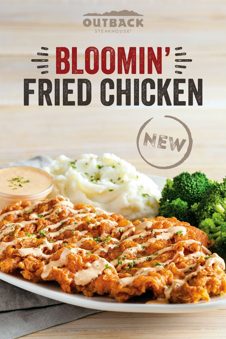 The Bloomin Fried Chicken Is Here For A Limited Time Whole Food Recipes Recipes Cooking