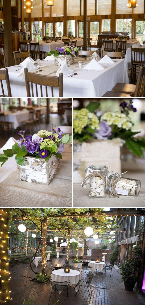Fall purple rustic garden wedding in arkansas gardens wedding and the purple for The garden room fayetteville ar