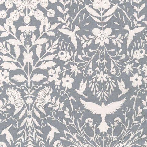 Black & White by Jennifer Sampou - Shadow Damask | Fabric Spark
