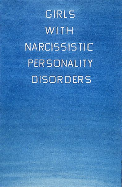 """Ed Ruscha )( """"Girls With Narcisstic Personality Disorders,"""" 1982"""