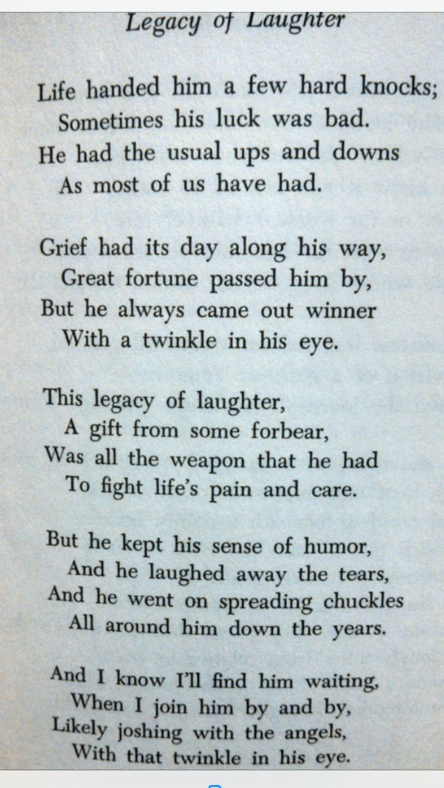 This poem sums my brother up to a tee - God bless you Clay.