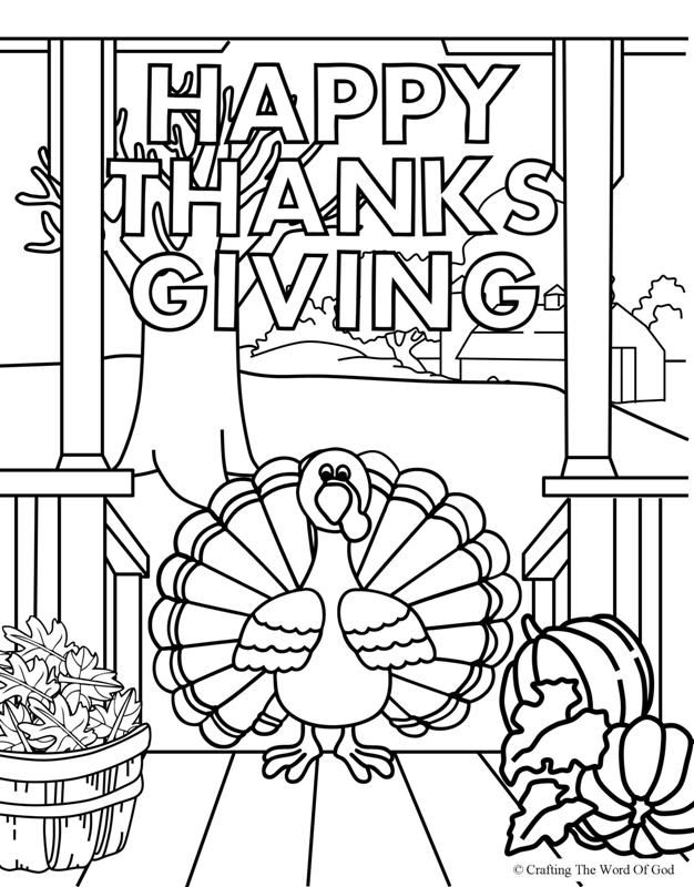 Happy Thanksgiving 4- Coloring Page (With images ...