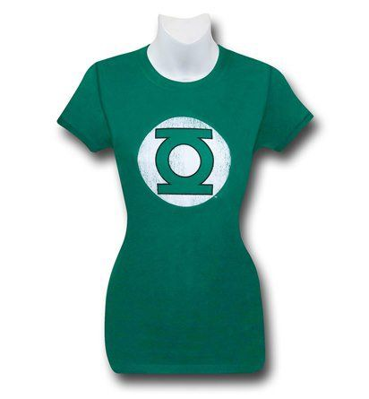 Images of Green Lantern Dark Green Distressed Symbol Women's T-Shirt