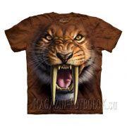 3D футболка с тигром мужская Sabertooth Tiger