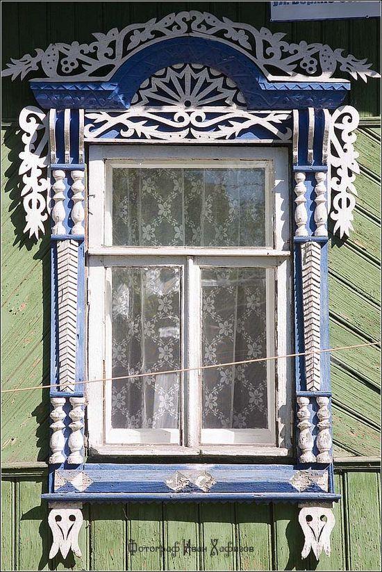 Kostroma city, Russia windows frames view 30