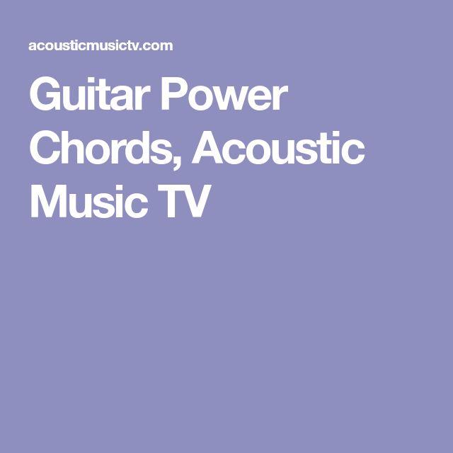Guitar Power Chords, Acoustic Music TV