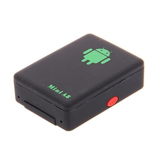 MINI GSM/GPRS Tracker A8 untuk Perlindungan Bayi Orang Tua Mobil/SOS kunci/Dual mikrofon/secara otomatis dial kembali