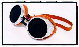 Occhiali Vintage Baruffaldi  101 Sar Lenti Scure Googles Alluminio e Cuoio | eBay