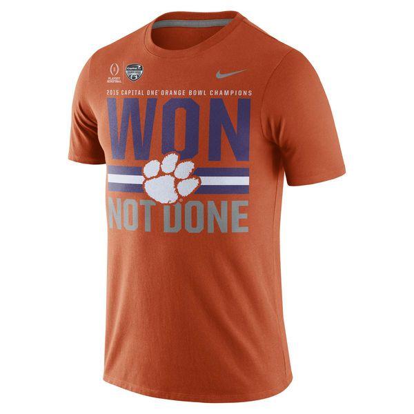 Nike Clemson Tigers Orange College Football Playoff 2015 Orange Bowl Champions Locker Room T-Shirt - FansEdge.com