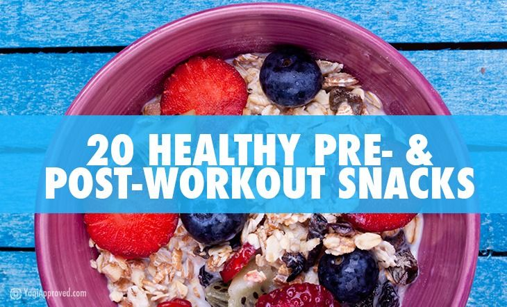 Here are twenty healthy pre- and post- workout snacks to keep you fueled and performing at your best: