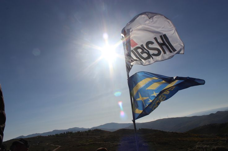 Mitsubishi & Subaru Rally Team Flag   WRC Rally de Portugal 2015