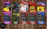Lego Movie Birthday Party Ticket Invitation