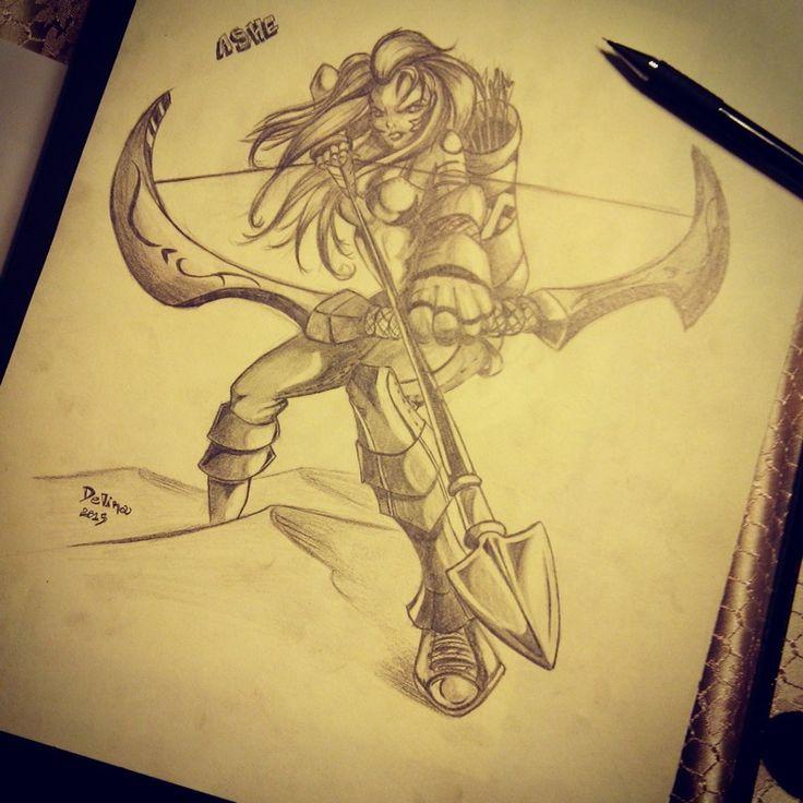 ASHE #lol #leagueoflegends #pencils #illustration #ashe #characterdesign #sketching #anime #animegirl