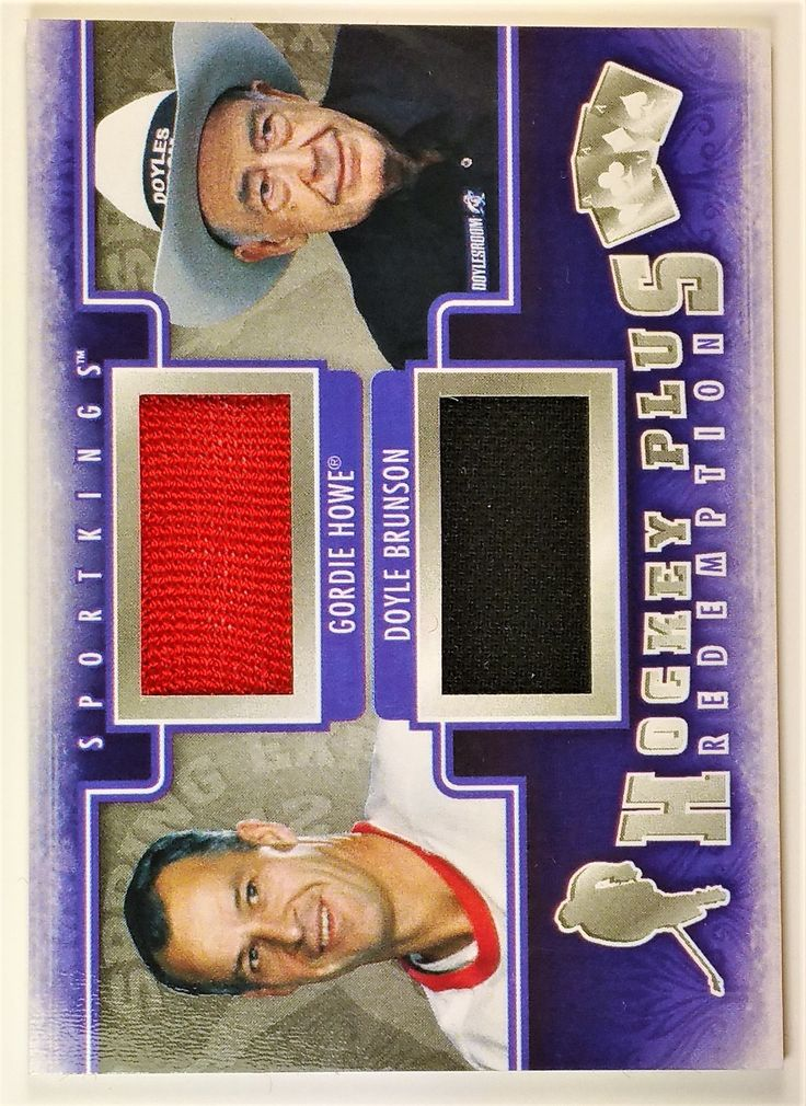 2012 Sportkings #HPR24 Gordie Howe/Doyle Brunson Spring Expo Hockey Plus Redemption Silver 1/19 (Short Print)