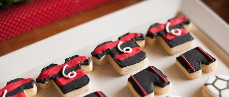 festa a tema calcio biscotti milan