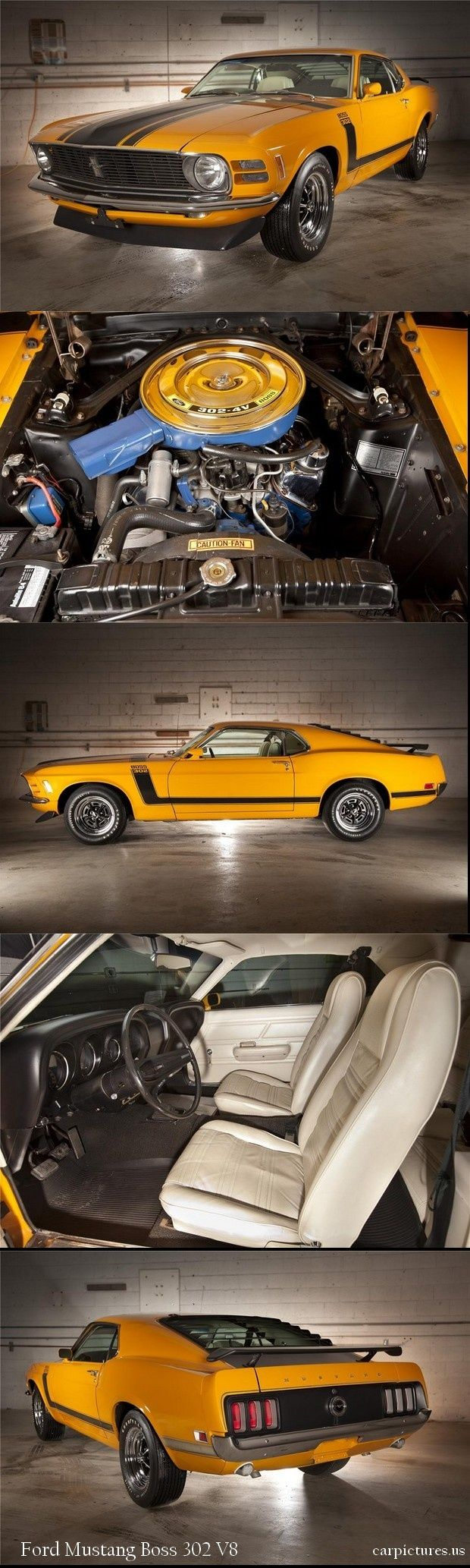 1970 ford mustang boss 302 fastback but with black leather seats
