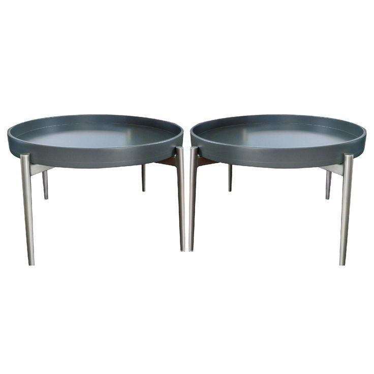 Round Coffee Table Pair: BoConcept Round Vera Coffee Tables - Pair
