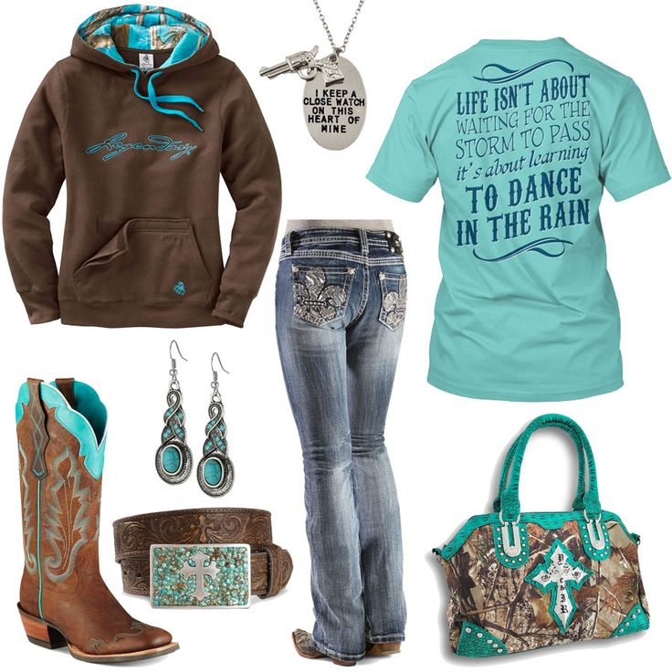 Dance In The Rain Outfit - Real Country Ladies  (I would be totally happy to wear jeans every day.)